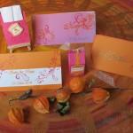 Set pink/orange